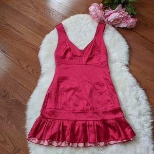 Bebe y2k 2000s silk reversible mini dress